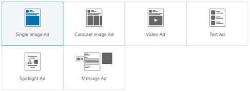 Die Linkedin-Anzeigenformate auf eine Blick