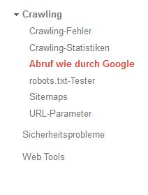 Rufen Sie den Google-Bot mit der Funktion