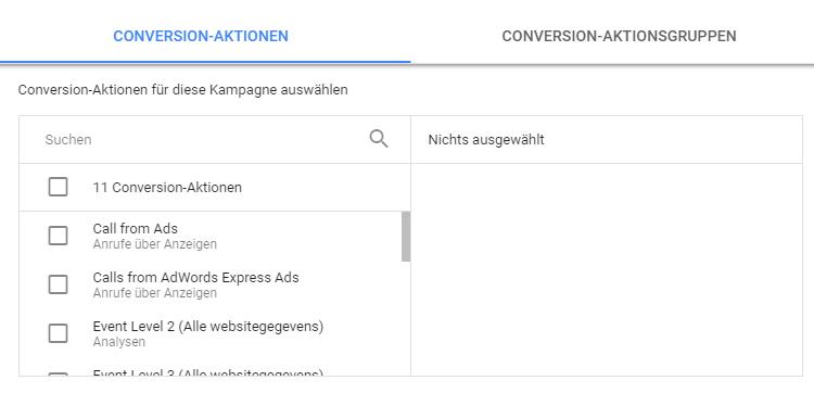 Conversions einbeziehen in Google Ads