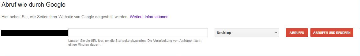 So rufen Sie in der Search Console den Google-Bot.