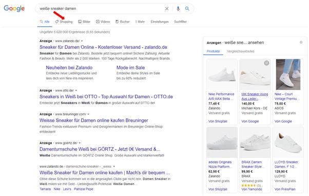 Jetzt in Deutschland kostenlose Google Shopping Einträge nutzen