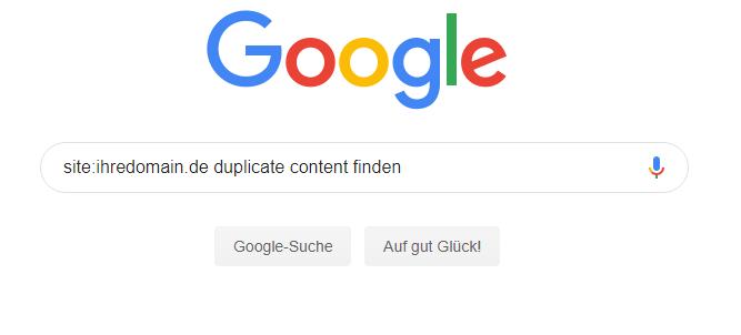 Die Google-site-Abfrage hilft bei der Analyse der Seiten-Indexierung.