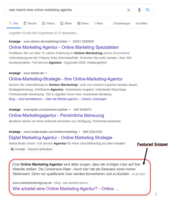 Text-Fragment-Links sind künftig in Featured Snippets integriert.