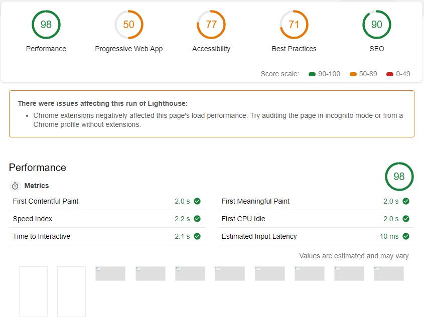 Mit dem Lighthouse-Plugin können Sie Ihren Page Speed analysieren.