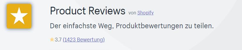 Die Product Review App von Shopify ist der einfachste Weg, Produktbewertungen zu teilen.