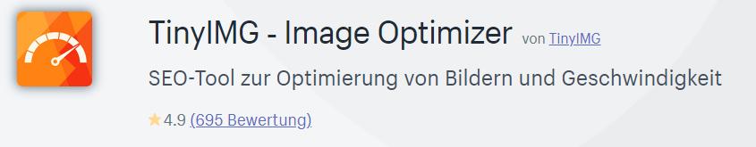 Die TinyIMG-App ist ein SEO-Tool zur Optimierung von Bildern und Geschwindigkeit.