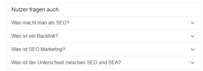 People-also-ask-Box ist das neueste featured snippet, das bei Google ausgespielt wird.