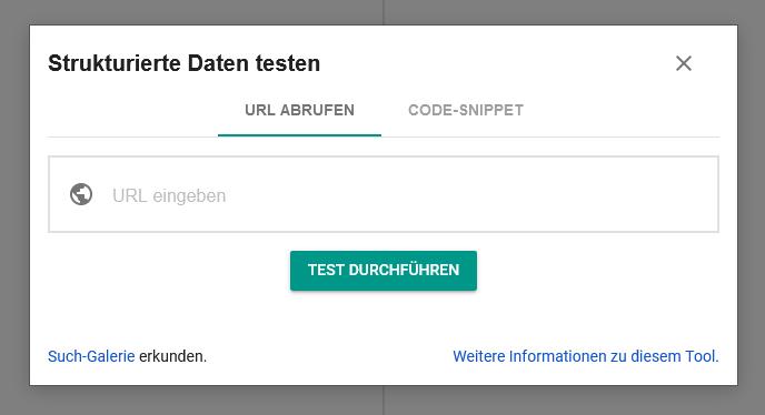 Im Testing-Tool für Strukturierte Daten sieht man schnell Fehler im Code.