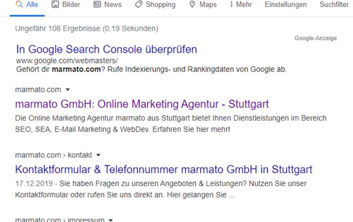 Mit dem Site-Operator können alle Seiten einer URL ausgespielt werden.