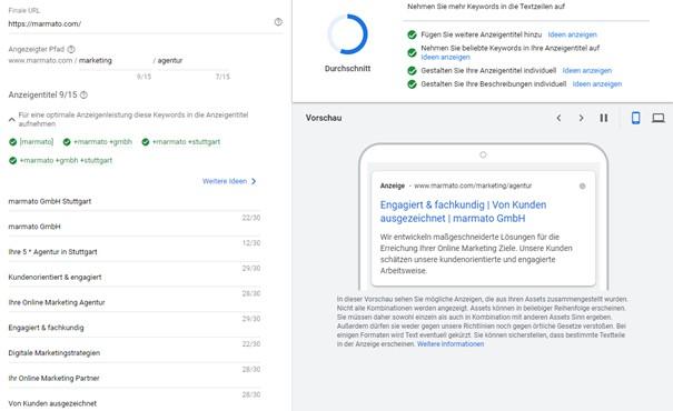 Textanzeigen bei Google erfolgreich meistern
