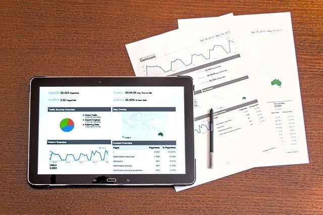 Datenauswertung mit matomo und Analytics.