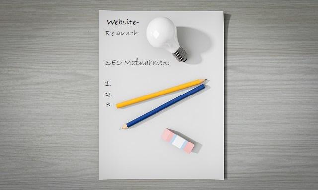 Der Relaunch der Website sollte gut geplant sein.