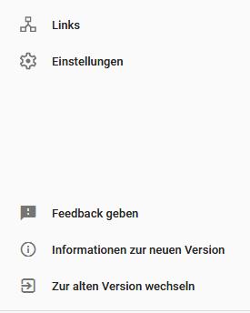Mit nur einem Klick kann man von der neuen zur alten Search Console wechseln.