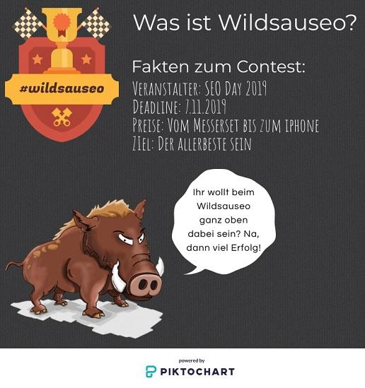 Der Wildsauseo-Contest ist in vollem Gange. marmato macht mit!